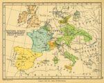 Mapa de Europa tras los tratados de Utrech y Randstad