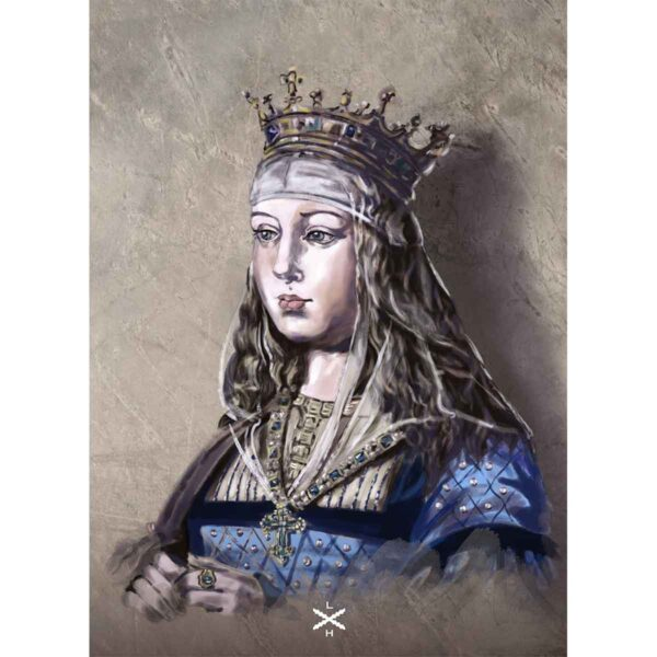 Lámina retrato de Isabel la Católica