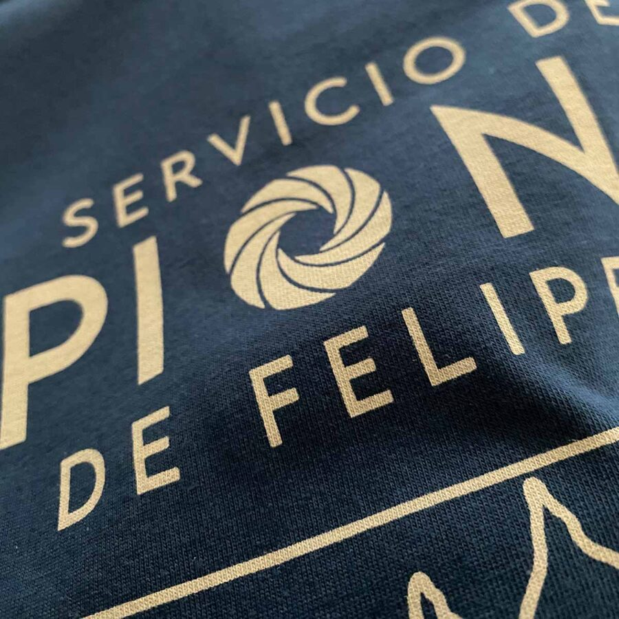 Camiseta Espías de Felipe II detalle
