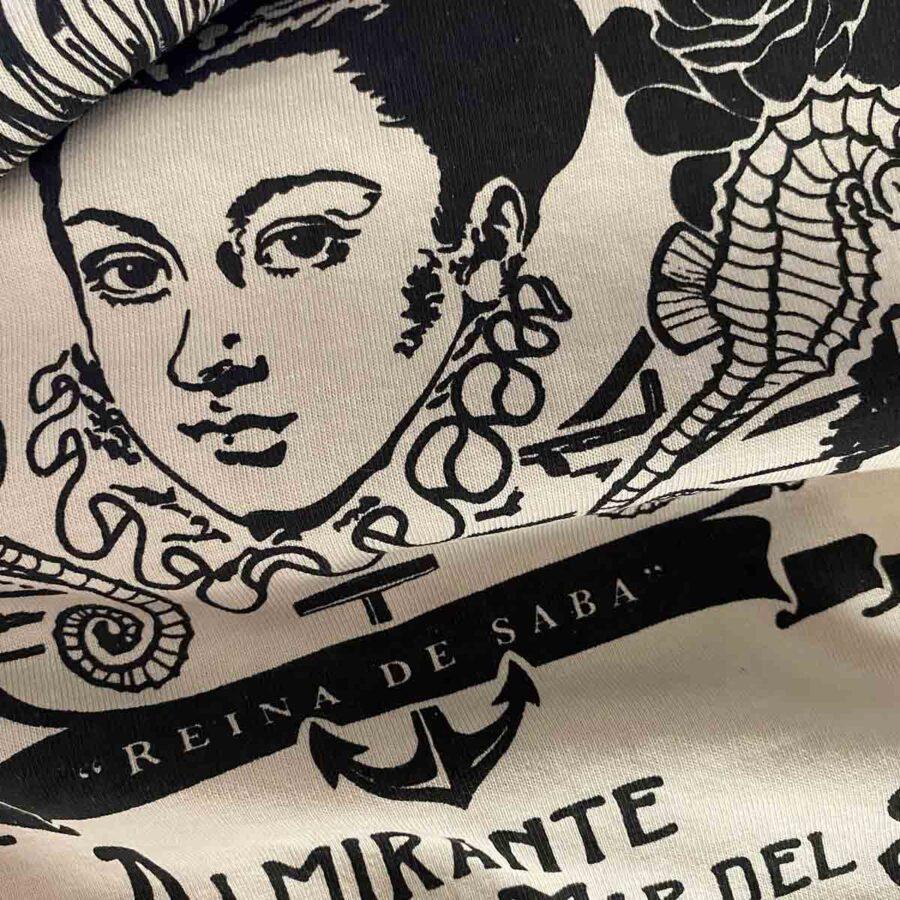Isabel de Barreto detalle de camiseta
